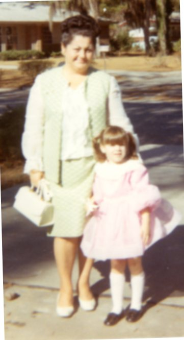 Marie Wickline and me, Savannah, GA, 1970
