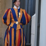 Swiss Guards protect the Vatican and the pope. Mike Howard